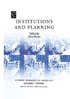 Jacket image for Institutions and Planning