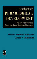 Jacket image for Handbook of Phonological Development