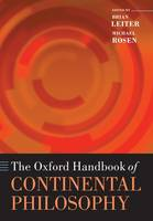 Jacket image for The Oxford Handbook of Continental Philosophy