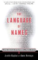 Jacket image for The Language of Names