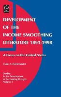 Jacket image for Development of the Income Smoothing Literature, 1893-1998