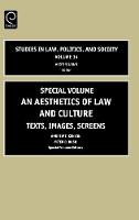 Jacket image for An Aesthetics of Law and Culture  Special Volume