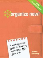 Organize Now! cover image