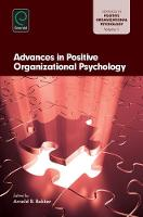 Jacket image for Advances in Positive Organizational Psychology